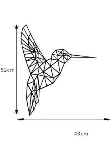 Shop Geometry Bird Removable Decorative Sticker For Wall - 43*52CM BLACK Mobile