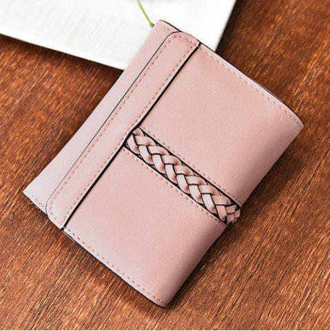 Outfits Braided Trifold Small Mini Wallet - PINK  Mobile