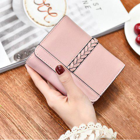 Sale Braided Trifold Small Mini Wallet - PINK  Mobile