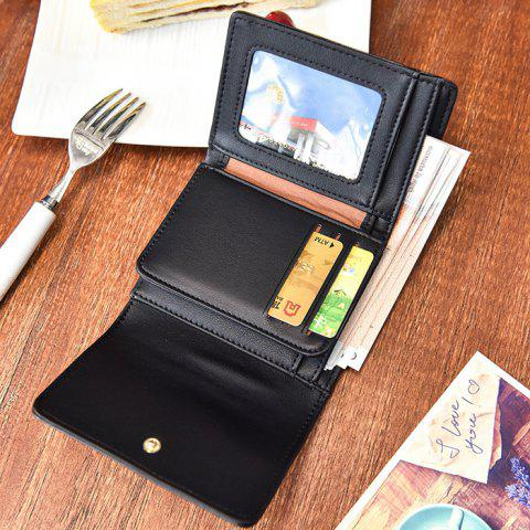 Outfit Braided Trifold Small Mini Wallet - BLACK  Mobile