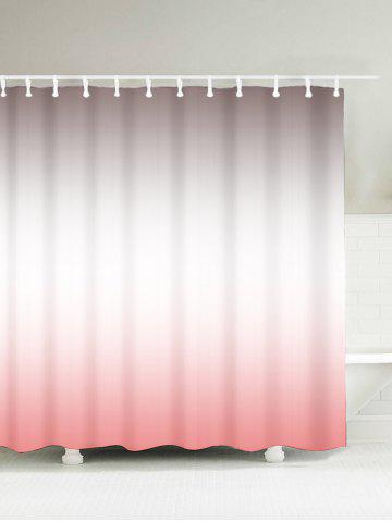 Brief Waterproof Polyester Ombre Shower Curtain - Shallow Pink - 180*180cm