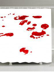 Gothic Bloodstain Printed Fabric Shower Curtain