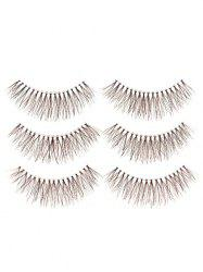 3 Pairs Fake Eyelashes with Glue -
