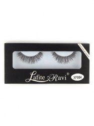 Crisscross Fake Eyelashes with Glue - BLACK