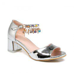 Beads Ankle Wrap Sandals