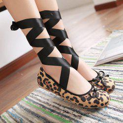 Leopard Print Round Toe Flat Shoes