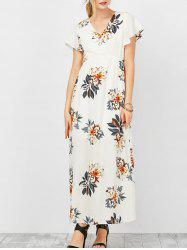 Empire Waist Floral Maxi Summer Dress