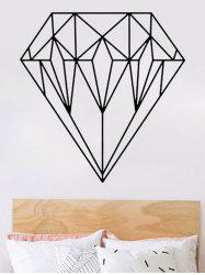 Geometric Diamond Print Design Wall Stickers For Bedrooms