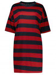 Stripe Plus Size Shift T-Shirt Dress