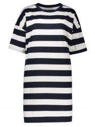 Stripe Plus Size T-Shirt Dress