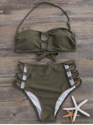 Strappy Halter High Waist Bikini