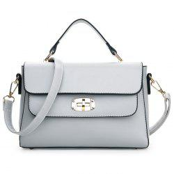 Faux Leather Metal Detail Handbag -
