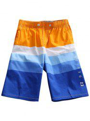 Color Block Drawstring Boardshorts