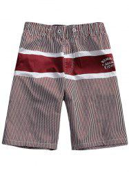 Striped Drawstring Waist Board Shorts