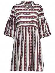 A Line Stripe Plus Size Dress