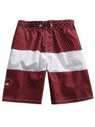 Two Tone Polka Dot Board Shorts