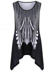 Asymmetric Extra Long Flowy Plus Size Tank Top