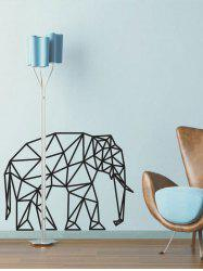 Geometric Elephant Design Wall Stickers For Bedrooms