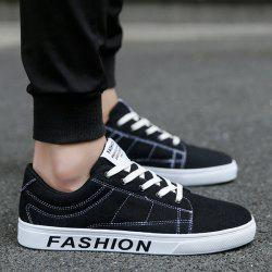 Stitching Letter Pattern Canvas Shoes