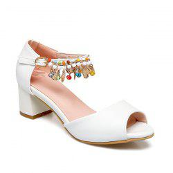 Block Heel Ankle Wrap Sandals