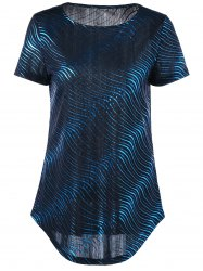 Courbé Ripple Longline T-shirt -