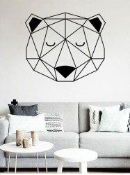 Geometric Bear Print Decorative Wall Stickers For Kid's Bedrooms