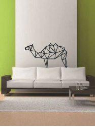 Paper Camel Geometric Print Waterproof Wall Art Sticker