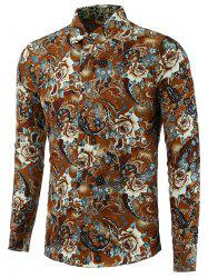 Floral Pattern Plus Size Shirt