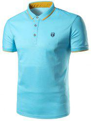 Half Button Patch Polo Shirt