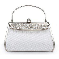 Removable Handle Metal Trimmed Evening Bag