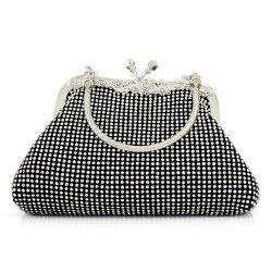 Kiss Lock Rhinestone Evening Bag