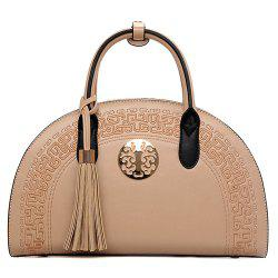 Semicircle Embroidered Tassel Handbag