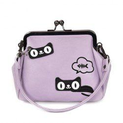 Car Pattern Kiss Lock Handbag