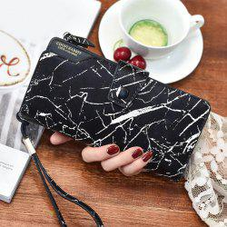 Faux Leather Crack Print Wristlet Wallet