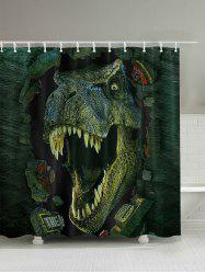 3D Dinosaur Print Bathroom Shower Curtain
