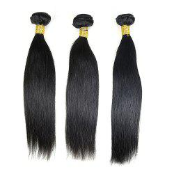3 Pcs Straight Brazilian Virgin Dyeable Human Hair Weave - NATURAL COLOR