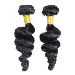 3 Pcs Loose Wave Dyeable Brazilian Virgin Human Hair Weave - NATURAL COLOR