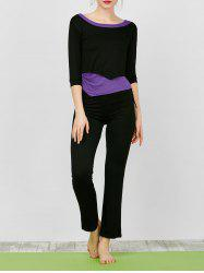 Asymmetric Crop Tee With Yoga Tank Top and Pants
