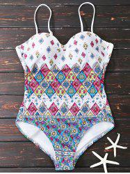 Floral One Piece Swimsuit With Padded Bra