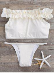 Off The Shoulder Ruffle Bikini
