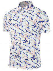Printed Casual Short Sleeve Shirt