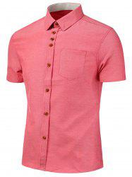 Chest Pocket Short Sleeve Shirt