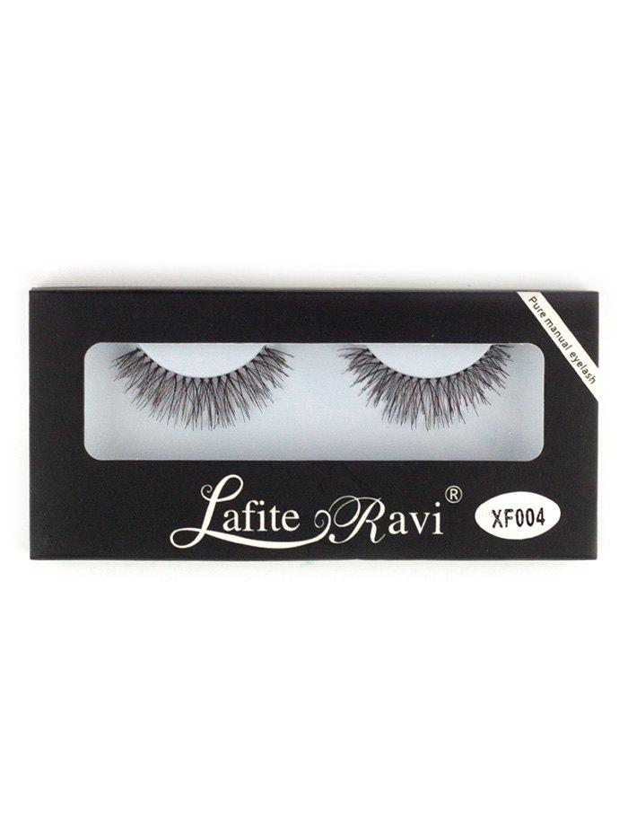 Crisscross Fake Eyelashes with GlueBEAUTY<br><br>Color: BLACK; Category: False Eyelashes; Brush Hair Material: Synthetic Hair; Features: Professional; Weight: 0.0200kg; Package Contents: 1 x False Eyelashes (Pair) 1 x Glue (Tube);