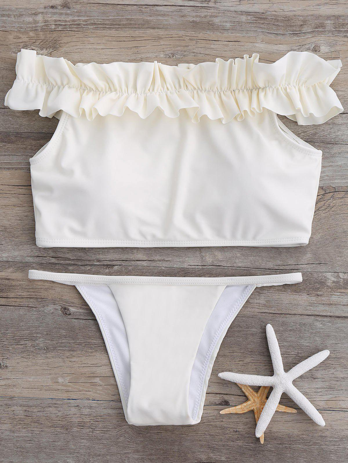 Outfit Off The Shoulder Ruffle Bikini