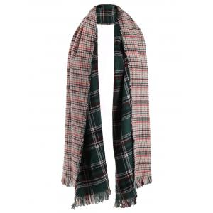 Chic Plaid Fringed Scarf For Women - COLORMIX
