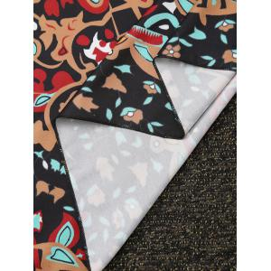 Rectangle Water Drop Lotus Beach Throw - COLORMIX ONE SIZE