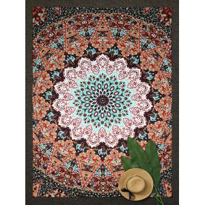 Rectangle Water Drop Lotus Beach Throw