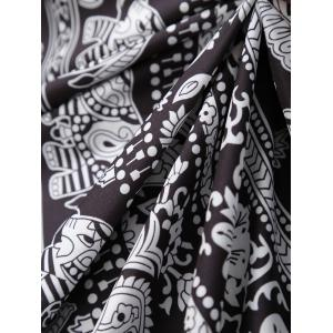 Floral Elephants Rectangle Beach Throw - BLACK ONE SIZE