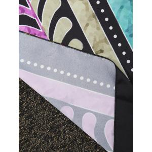 Rectangle Printed Beach Cover Throw - COLORMIX ONE SIZE