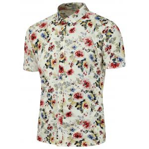 Floral Printed Short Sleeves Shirt